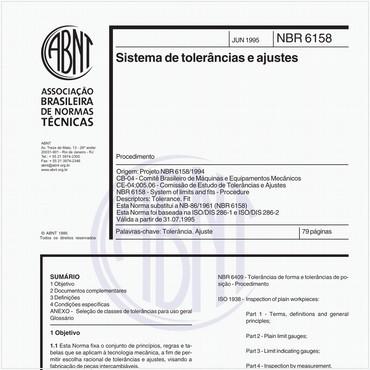 NBR6158 de 06/1995