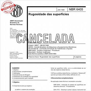 NBR6405 de 01/1988