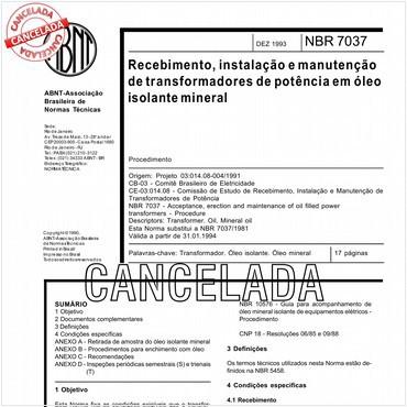NBR7037 de 12/1993