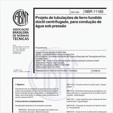 NBR11185 de 12/1994