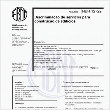 NBR12722 de 08/1992