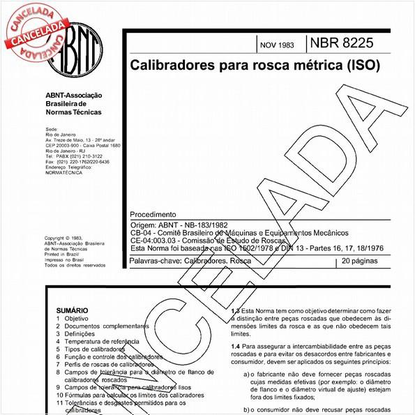 Calibradores para rosca métrica (ISO)