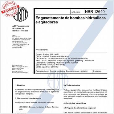 NBR12640 de 09/1992