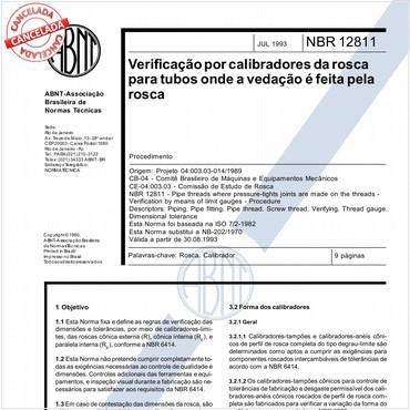 NBR12811 de 07/1993