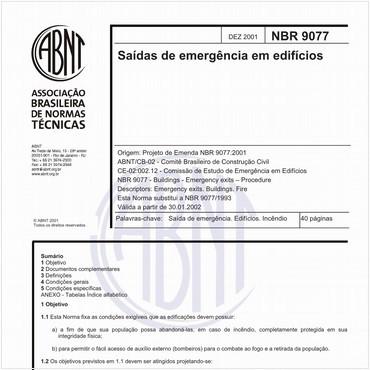 NBR9077 de 12/2001