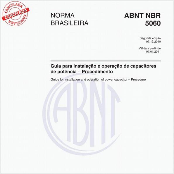 Guia para instalação e operação de capacitores de potência - Procedimento