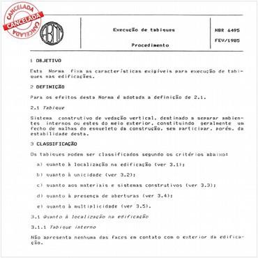 NBR6495 de 02/1985
