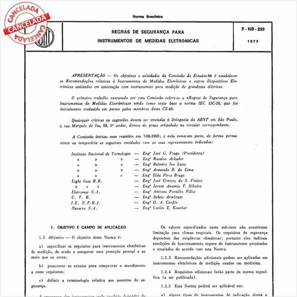 Regras de segurança para instrumentos de medidas eletrônicas