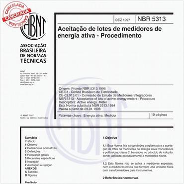 NBR5313 de 12/1997