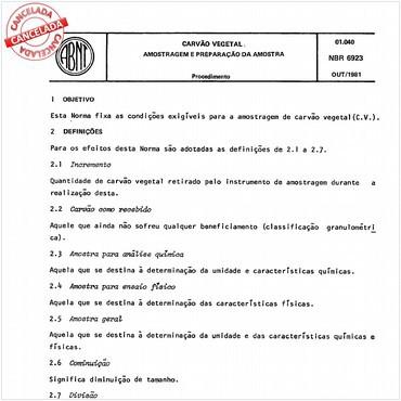 NBR6923 de 10/1981
