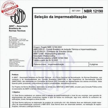 NBR12190 de 09/2002