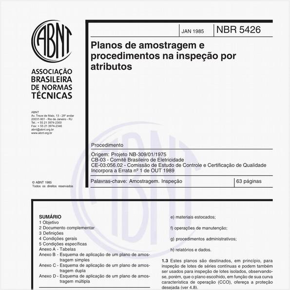 Planos de amostragem e procedimentos na inspeção por atributos