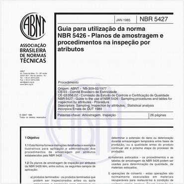 NBR5427 de 01/1985