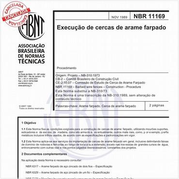 NBR11169 de 11/1989
