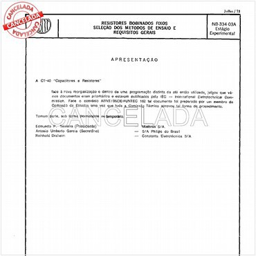 NBR5188 de 01/1996