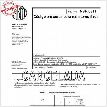 NBR5311 de 11/1980