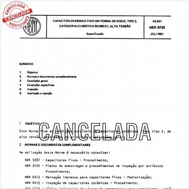 NBR6726 de 07/1981