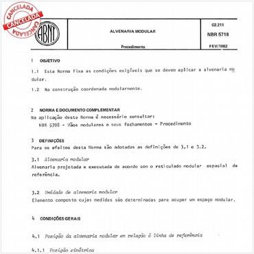 NBR5718 de 02/1982