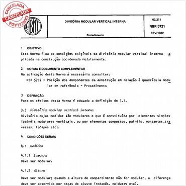 NBR5721 de 02/1982