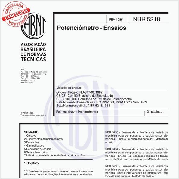 NBR5218 de 10/2012