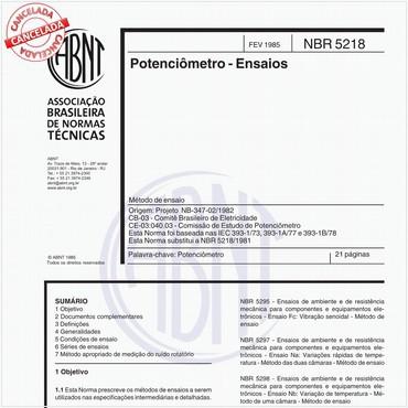 NBR5218 de 02/1985