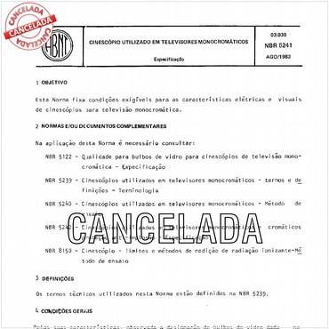 NBR5241 de 08/1983