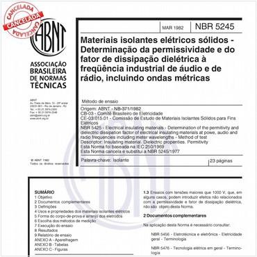 NBR5245 de 05/1982