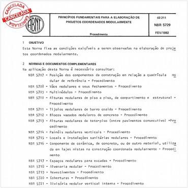 NBR5729 de 02/1982