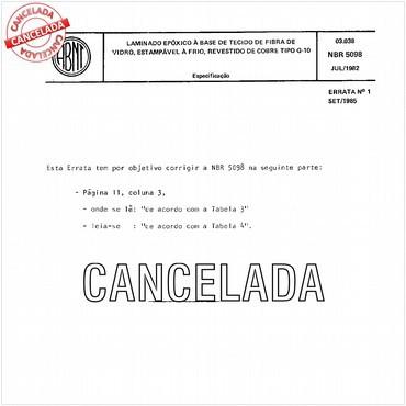 NBR5098 de 07/1982