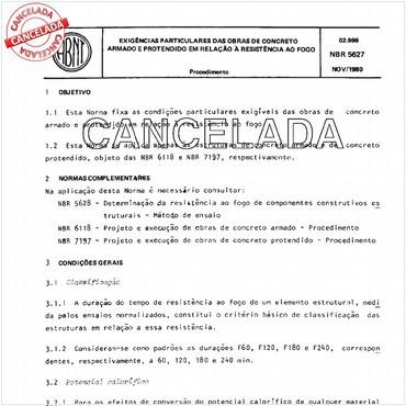 NBR5627 de 11/1980