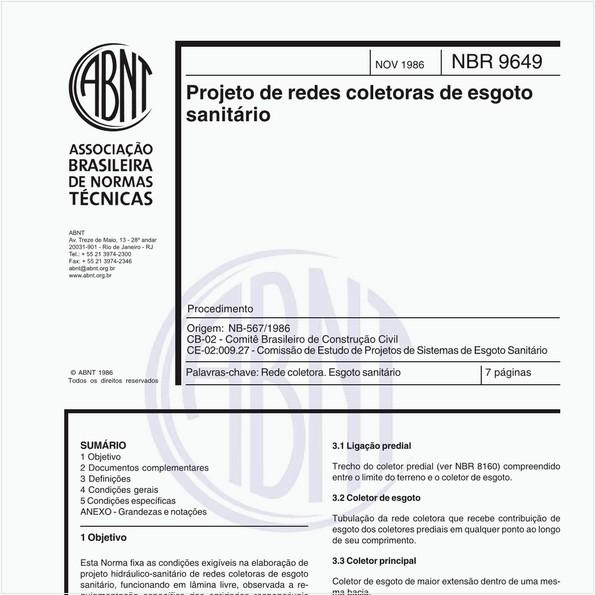 Projeto de redes coletoras de esgoto sanitário - Procedimento