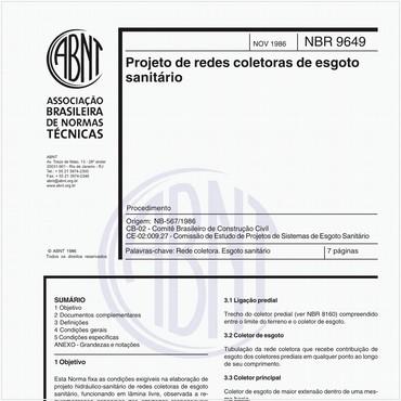 NBR9649 de 11/1986