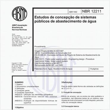 NBR12211 de 04/1992