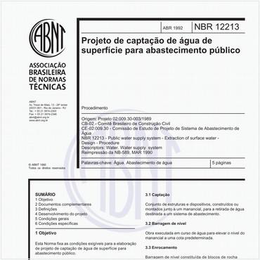 NBR12213 de 04/1992