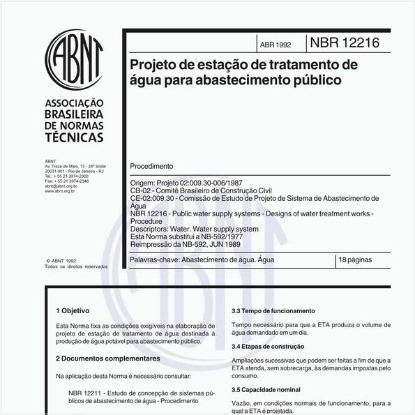 NBR12216 de 04/1992