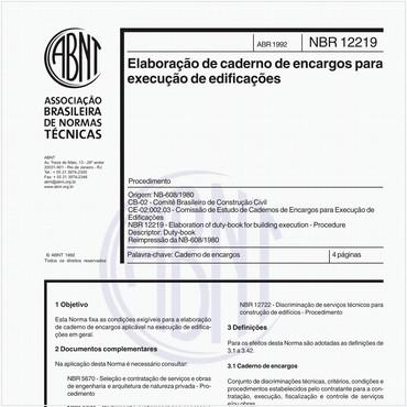 NBR12219 de 04/1992