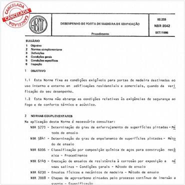 NBR8542 de 09/1986