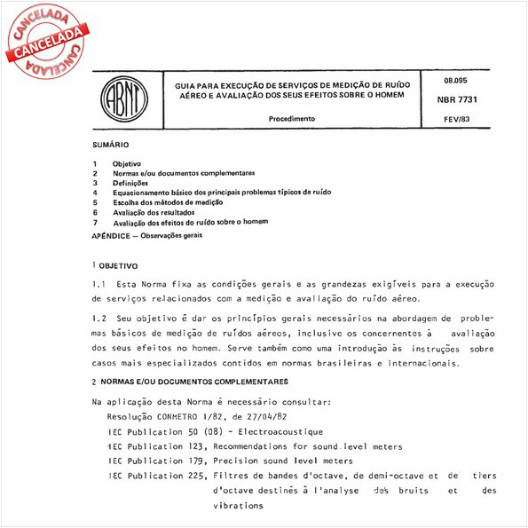 Guia para execução de serviços de medição de ruído aéreo e avaliação dos seus efeitos sobre o homem