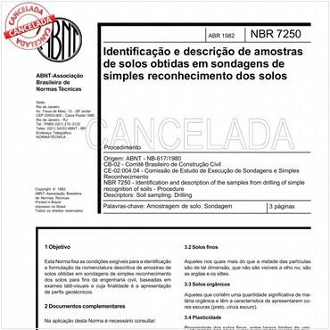 NBR7250 de 04/1982