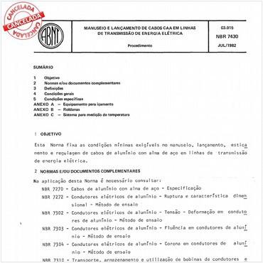 NBR7430 de 07/1982