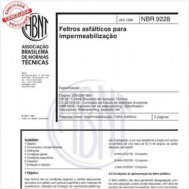 NBR9228 de 01/1986