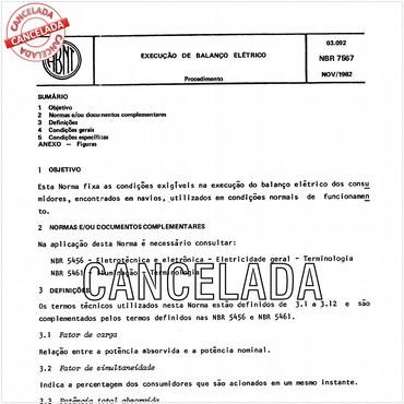 NBR7567 de 11/1982