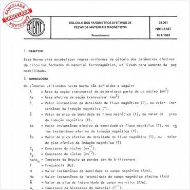 NBR8187 de 09/1983