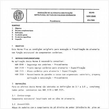 NBR8545 de 07/1984
