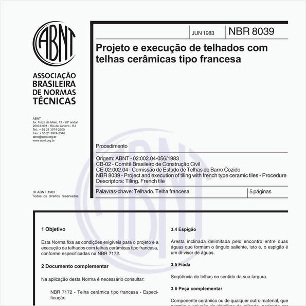 Projeto e execução de telhados com telhas cerâmicas tipo francesa - Procedimento