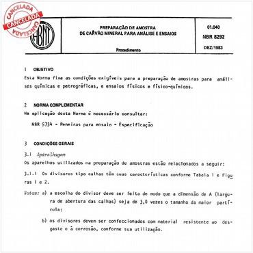 NBR8292 de 12/1983