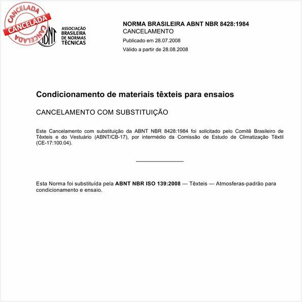 Condicionamento de materiais têxteis para ensaios