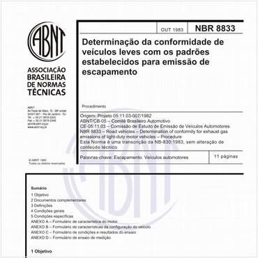NBR8833 de 10/1983
