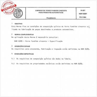 NBR8391 de 02/1984