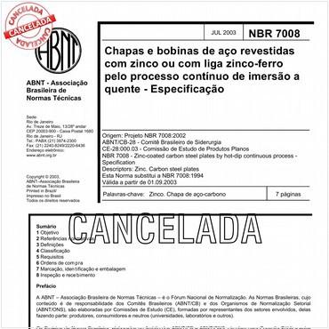 NBR7008 de 07/2003